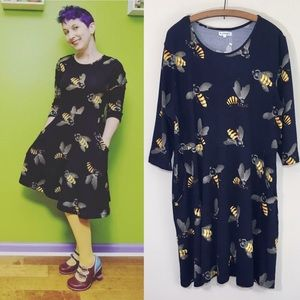 LA Soul tunic dress bees Size XL